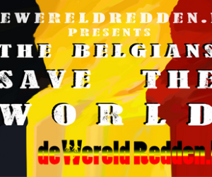 belgians save the world banner